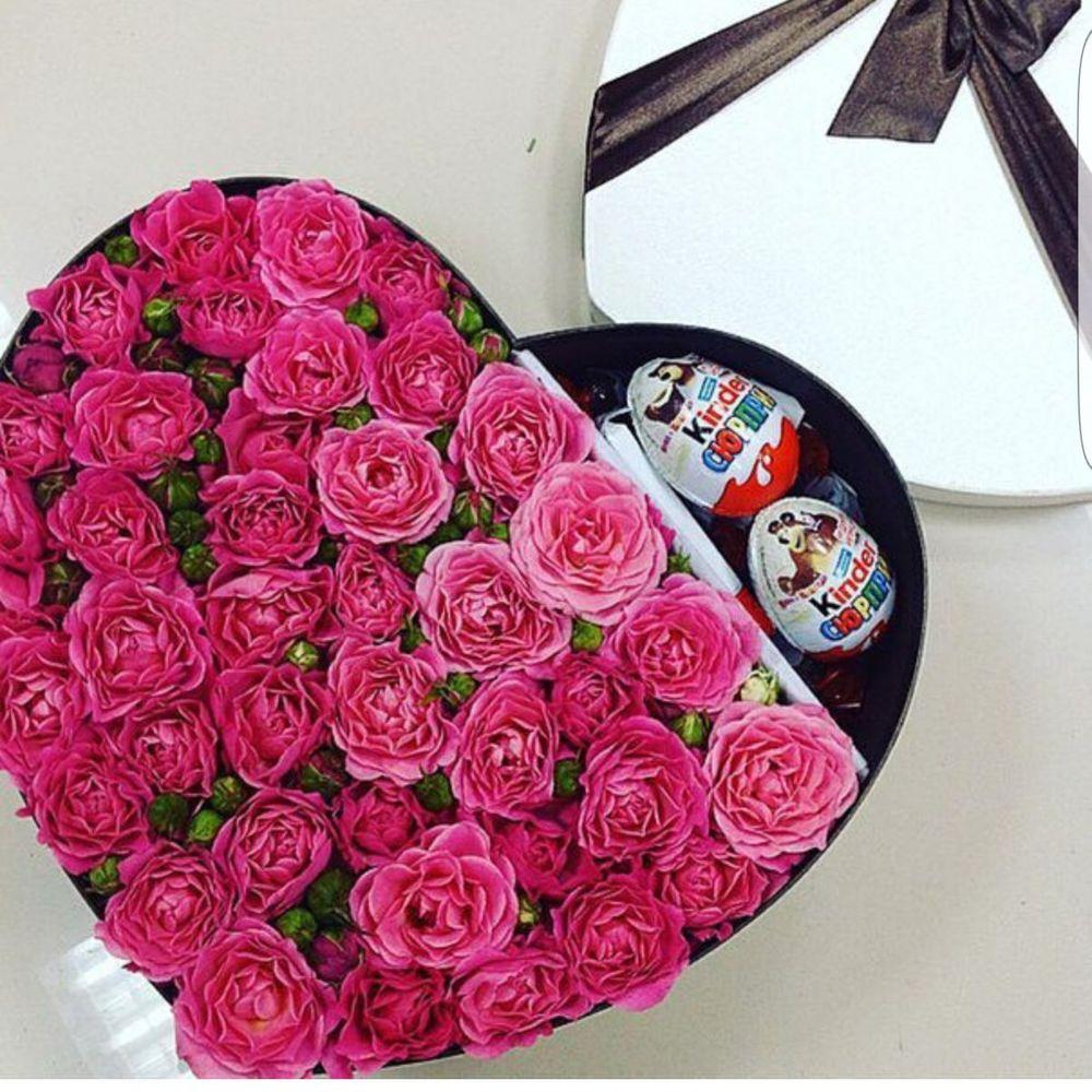 Заказать в белгороде цветы с сладостями в коробке с доставкой дешево, букет пионами