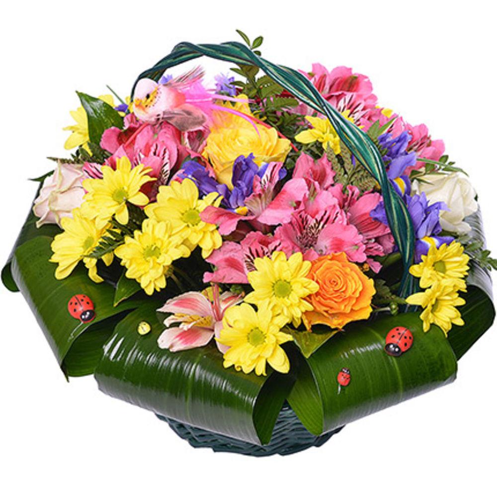 Корзины цветы на заказ алматы недорого