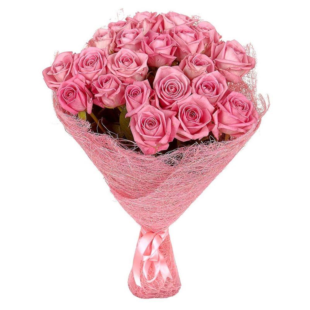 Букет из розовых розочек фото, букеты
