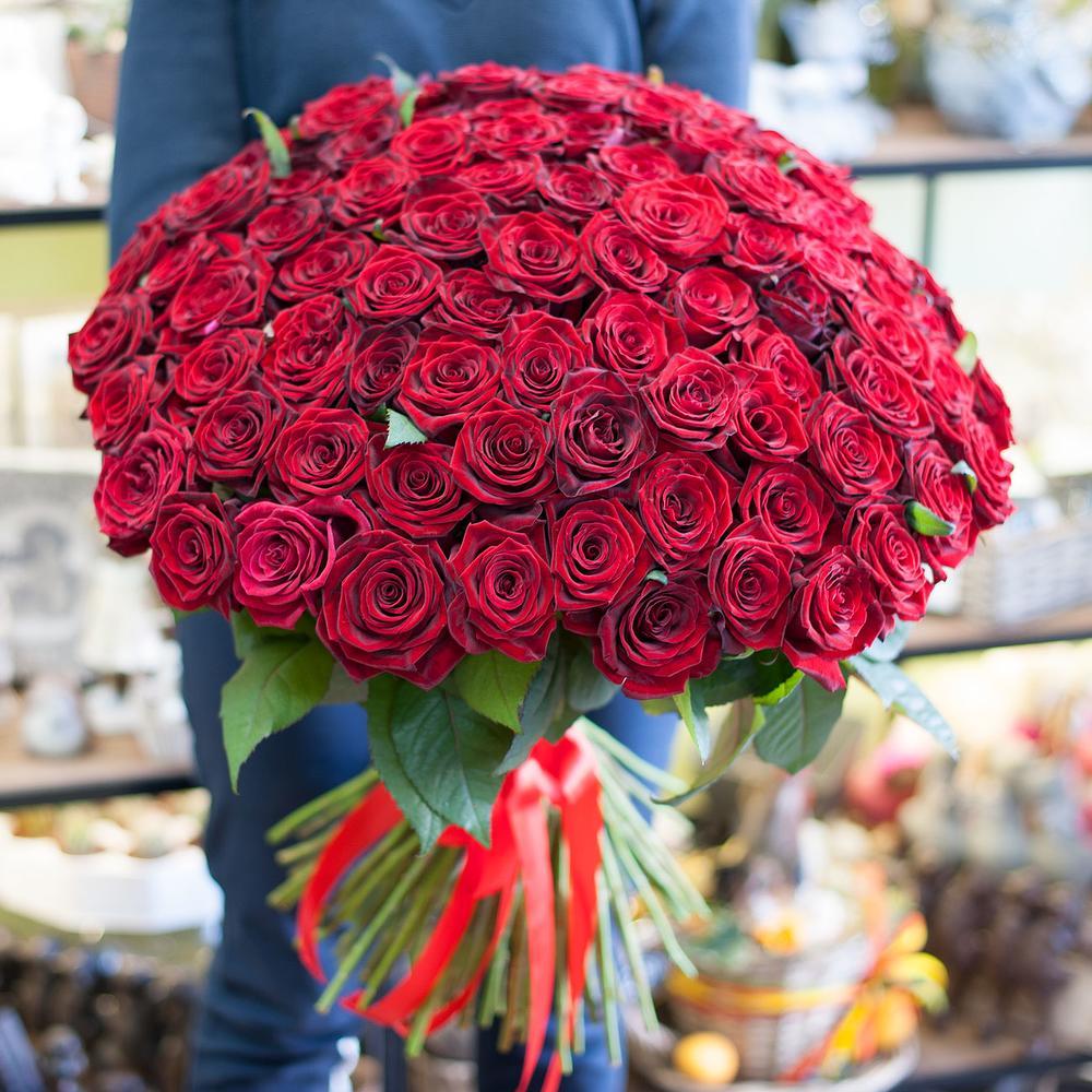101 роза букеты фото