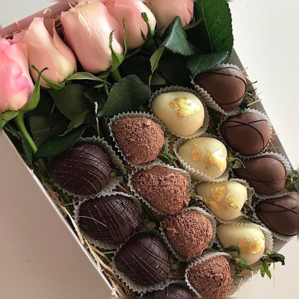 картинки с цветами и шоколадками стала популярна