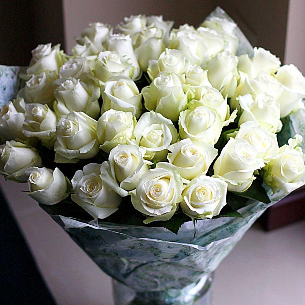 Для, подарить букет белых роз фото