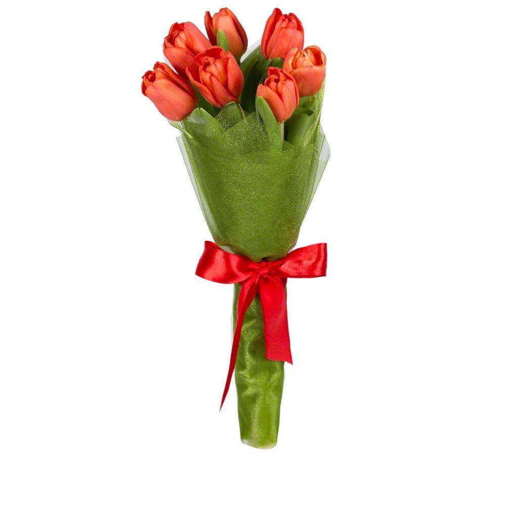 Букетик из 5 тюльпанов цена