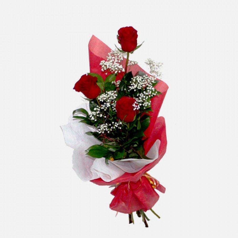 Анемонов, букет из трех 5 роз значение