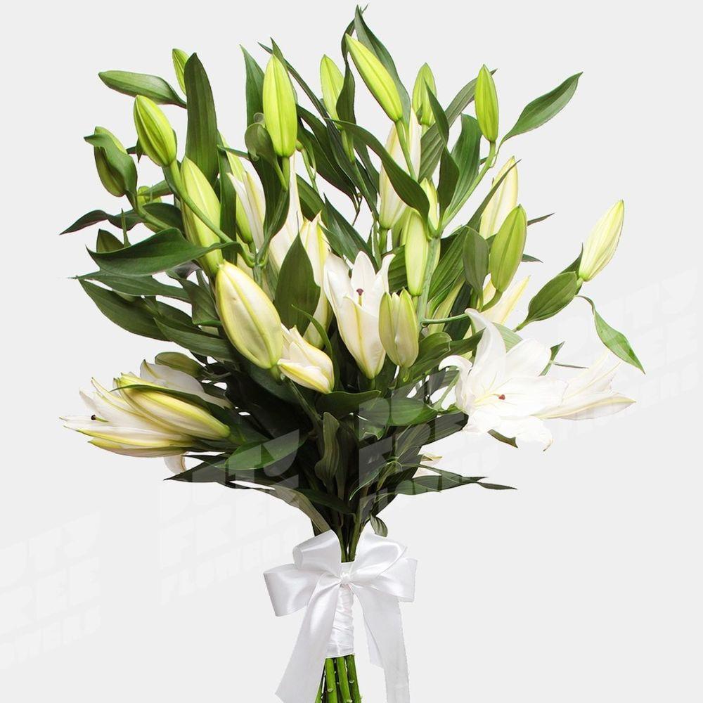 Для подарка, букет из ветки лилии