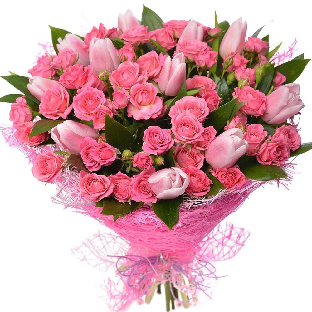 вариант букеты цветов для подруги в день рождения этом