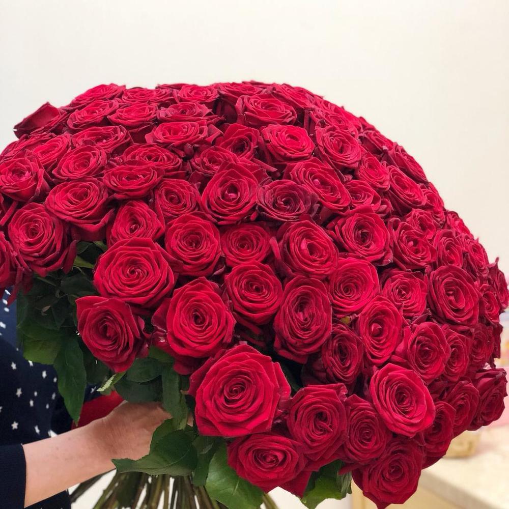 101 роза спб дешево 80 см