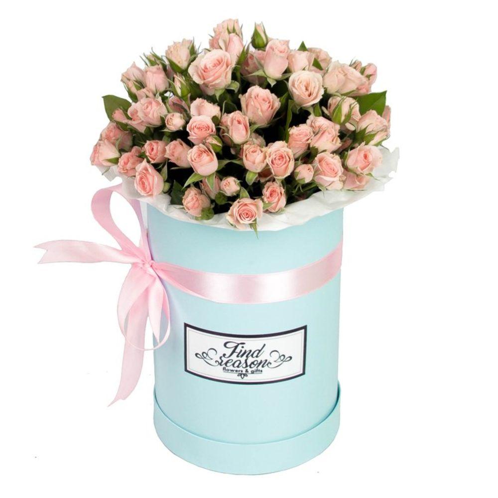 Букет и цветы в шляпных коробках москва, для свадебного