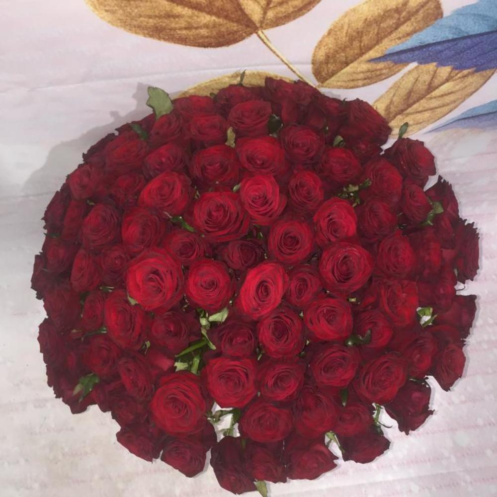 Купить цветы 101 бордовая роза, розы оптом нижнем