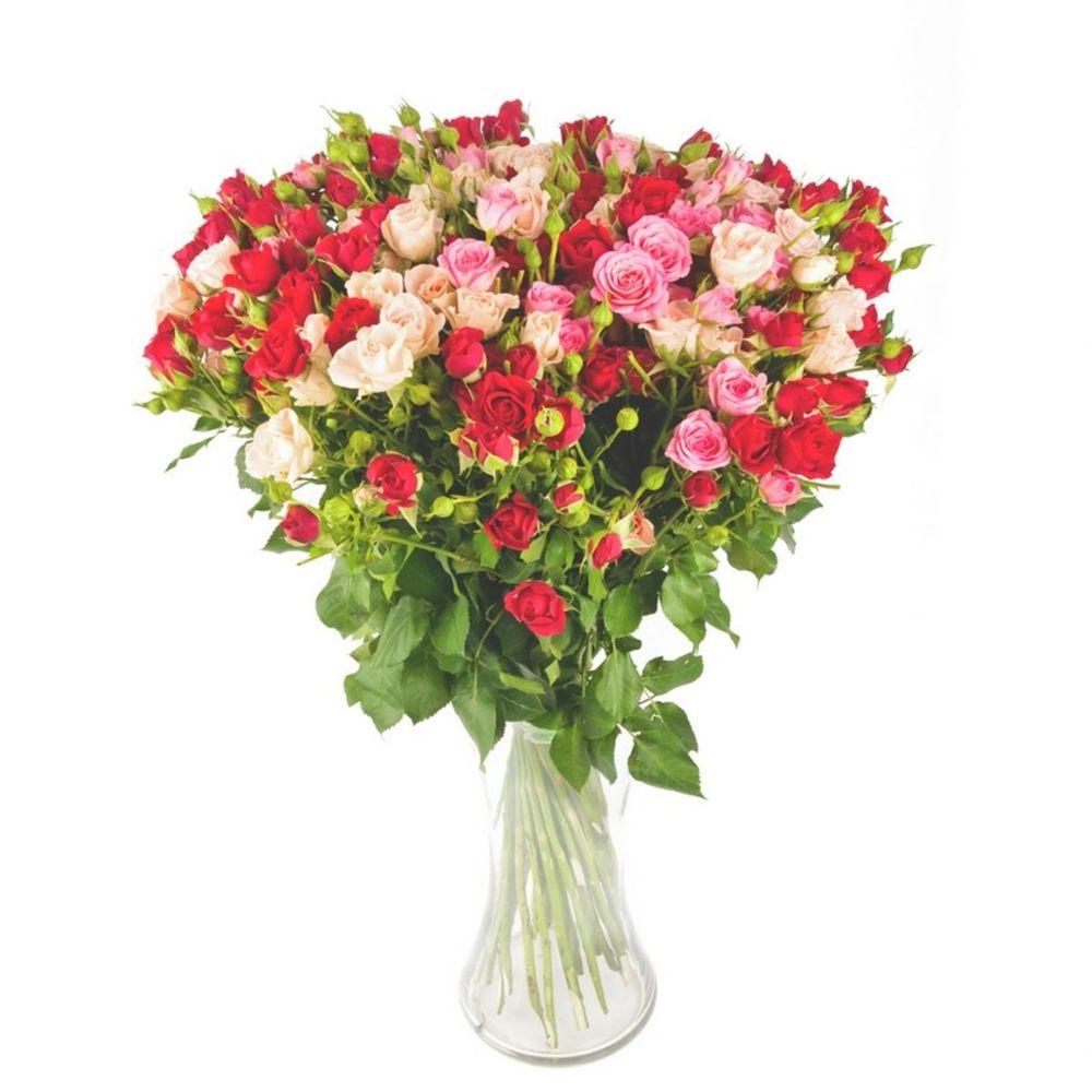 Кустовая роза букет уход