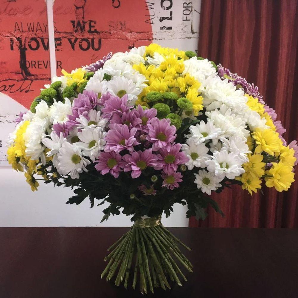 Как выглядит букет из 31 хризантемы, свадебного букета анемонов