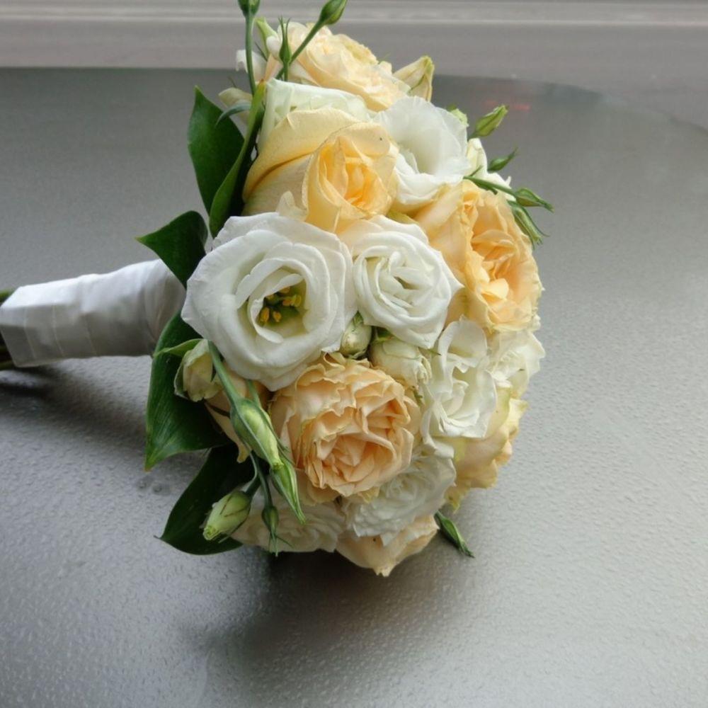 Свадебный букет воронеж, букет белыми розами