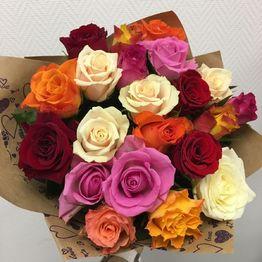 Разноцветные розы с доставкой в Одинцово