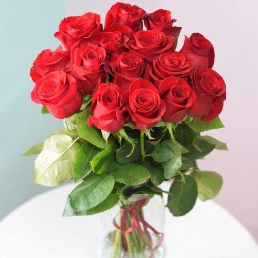 15 роз Фридом: букеты цветов на заказ Flowwow