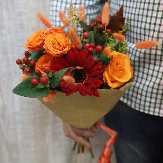 Букет-комплимент с герберой: букеты цветов на заказ Flowwow
