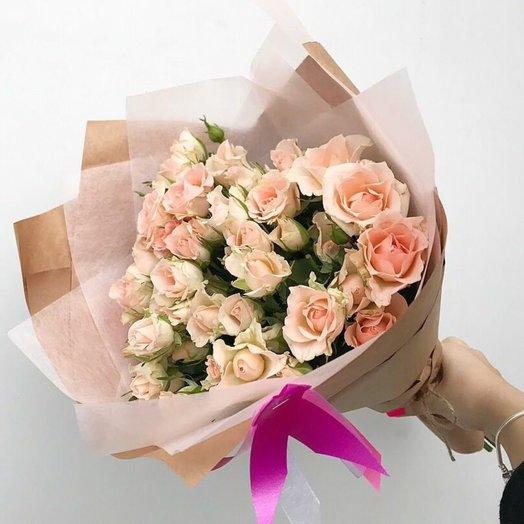 Чарующий букет роз: букеты цветов на заказ Flowwow
