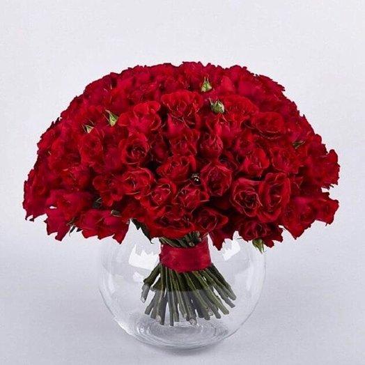 Стильный букет в вазе: букеты цветов на заказ Flowwow