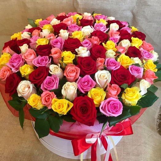 """Коробочка """"101 поцелуй"""": букеты цветов на заказ Flowwow"""
