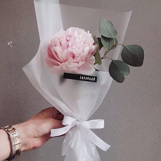 Зефирный пион: букеты цветов на заказ Flowwow
