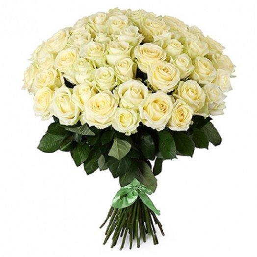 51 роза аваланж 70 см: букеты цветов на заказ Flowwow