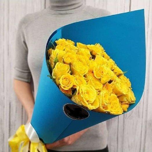 """Букет желтых роз """"Голубая мечта"""""""