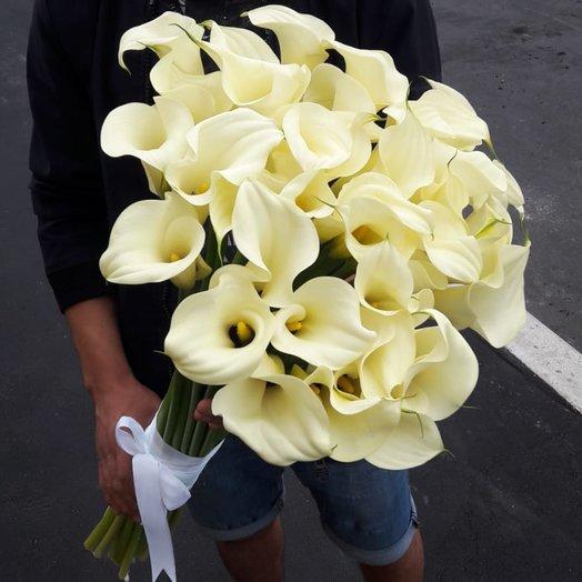Белые каллы: букеты цветов на заказ Flowwow