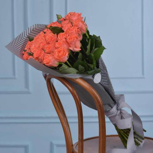 Букет из оранжевых роз Скала любви: букеты цветов на заказ Flowwow