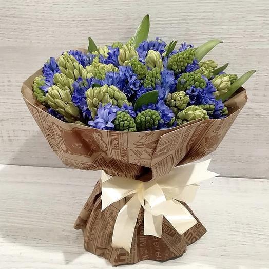 Букет из 49 гиацинтов: букеты цветов на заказ Flowwow