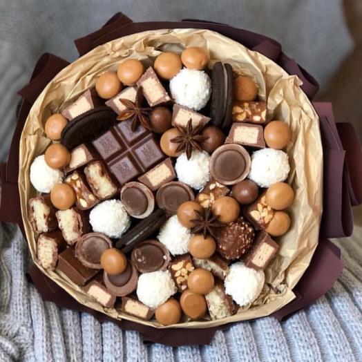 Сладкий букет «Шоколад»: букеты цветов на заказ Flowwow
