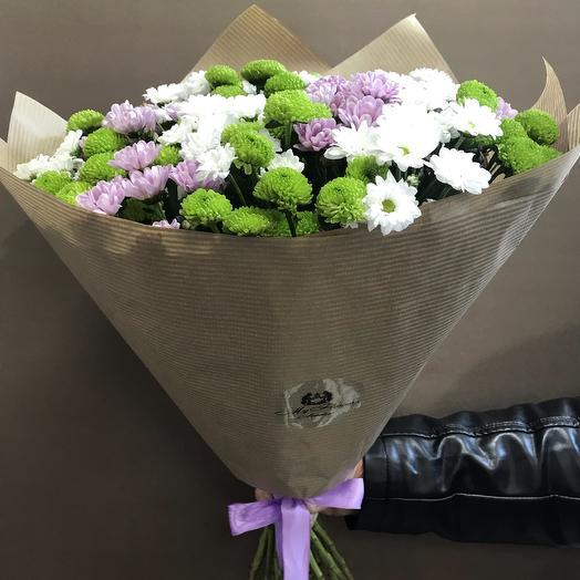Букет  цветной микс: букеты цветов на заказ Flowwow