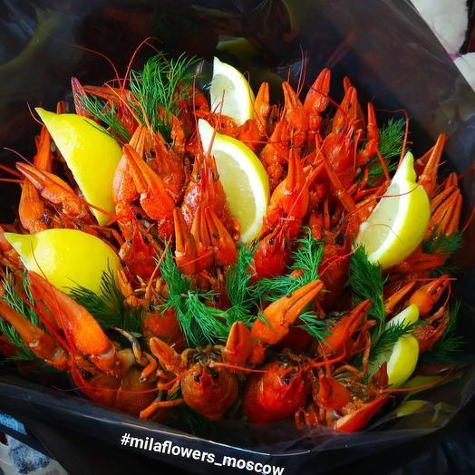 Мужской букет с раками: букеты цветов на заказ Flowwow