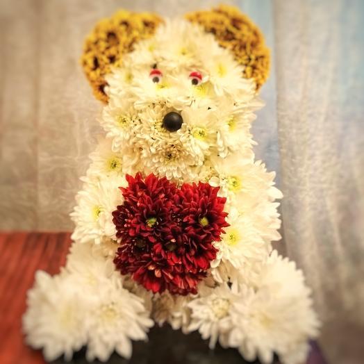 """Композиция """"Белый мишка"""": букеты цветов на заказ Flowwow"""