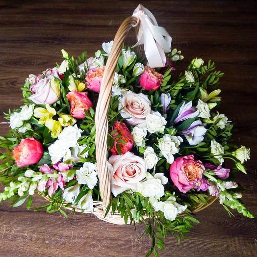 «Розовый рассвет»: букеты цветов на заказ Flowwow