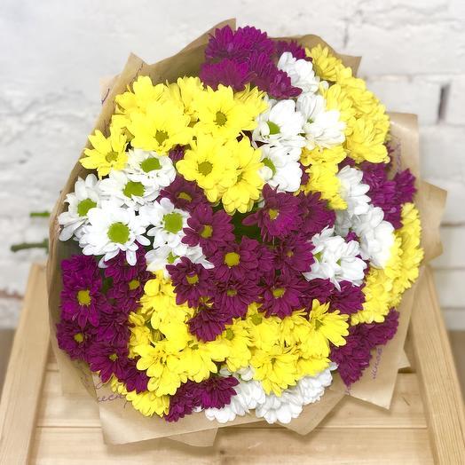 Букет из кустовых хризантем микс: букеты цветов на заказ Flowwow
