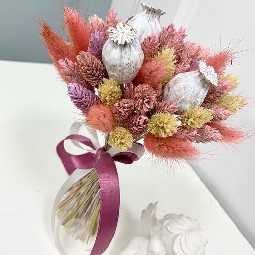 Букет из сухоцвета 2: букеты цветов на заказ Flowwow