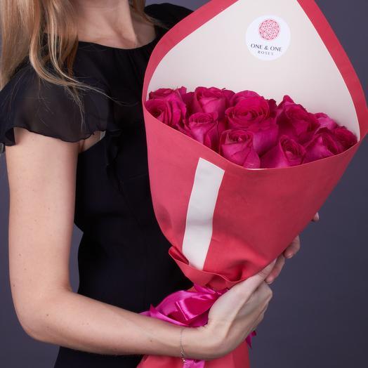 19 роз премиум класса Пинк Флойд: букеты цветов на заказ Flowwow