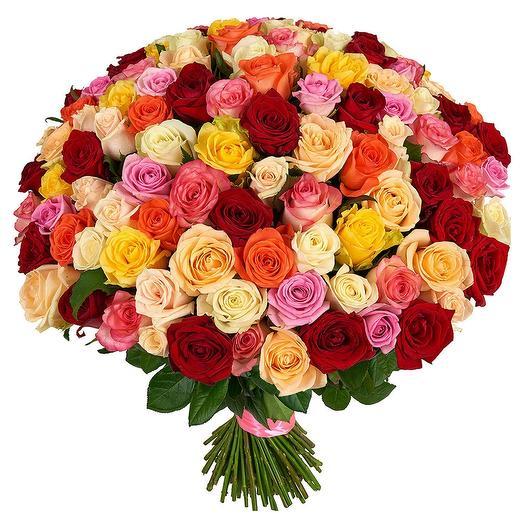 Букет 101 роза 50см микс