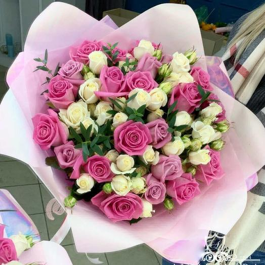 Принцеса розового царства: букеты цветов на заказ Flowwow