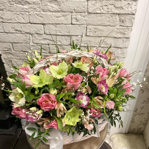 Большая весенняя корзина: букеты цветов на заказ Flowwow