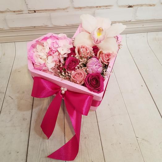 Романтичное сердце: букеты цветов на заказ Flowwow