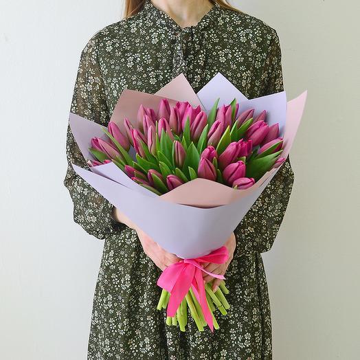 41 Тюльпан (Фиолетовый): букеты цветов на заказ Flowwow