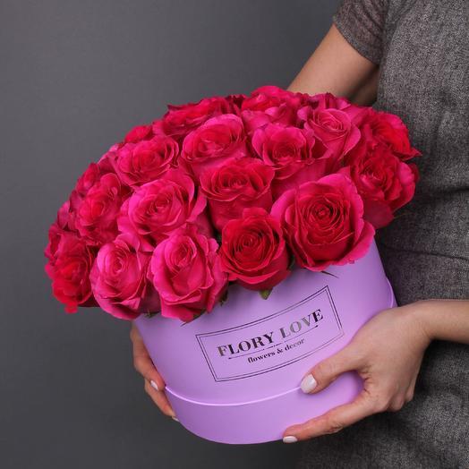 29 роз Pink Floyd в шляпной коробке Эквадор