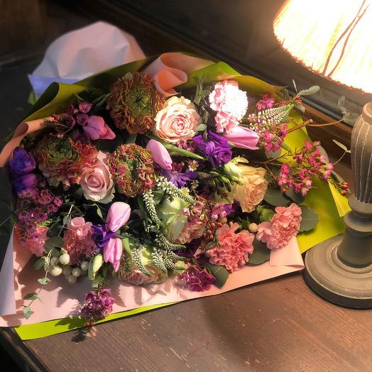 """Красивый букет цветов с днём рождения """"Вдохновение"""""""