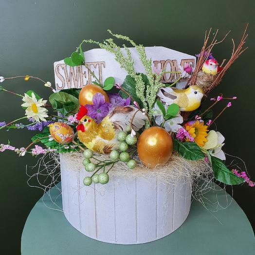 "Пасхальная композиция ""Светлый дом"": букеты цветов на заказ Flowwow"