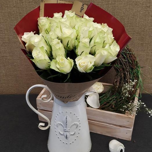 Роза (Кения) 40 см 25 шт в упаковке