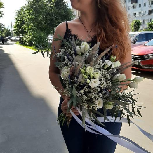 """Букет полевой с лавандой """"Фея цветов"""""""