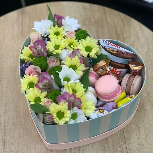 Коробка Сердце со Сладостями