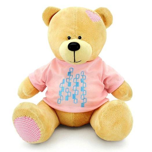 Мягкая игрушка «Медведь Топтыжкин», жёлтый, 20 см