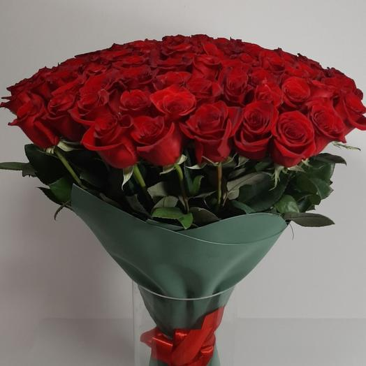 Букет из 101 красной розы эквадор