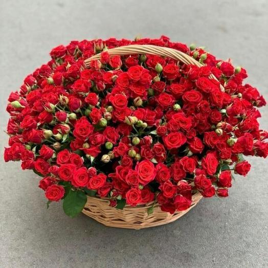 Корзина с розой